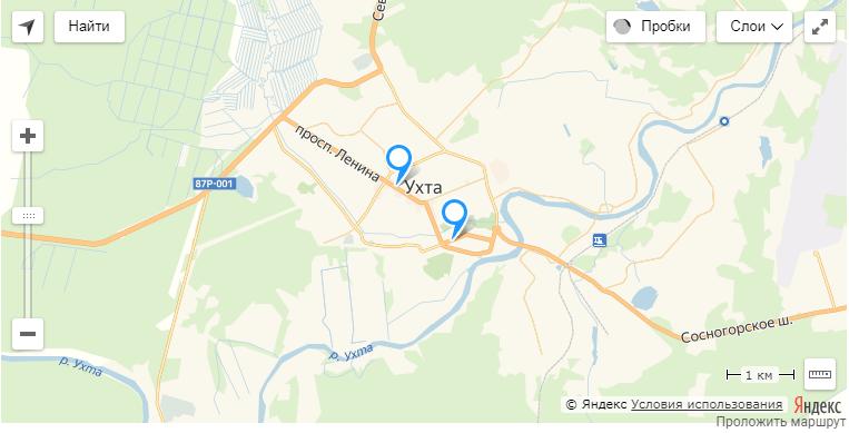Адреса ппс в Ухте